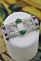 A very fine Diamond, Nephrite Jade & Lapis Lazuli Platinum Art Deco Brooch, Circa 1930 - image 1