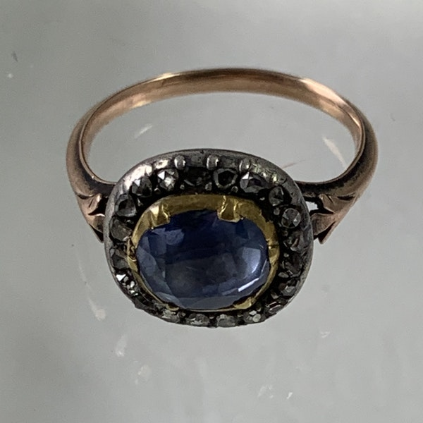 1780 sapphire and diamond ring - image 3
