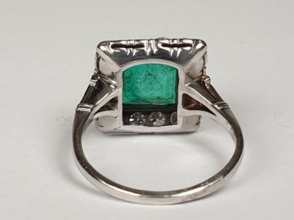 1.92ct Columbian Art deco emerald engagement ring  DBGEMS - image 6