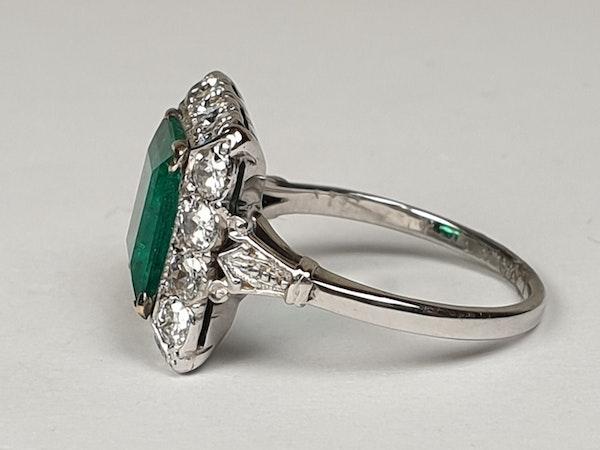 1.92ct Columbian Art deco emerald engagement ring  DBGEMS - image 2