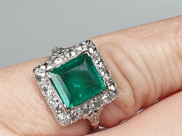 1.92ct Columbian Art deco emerald engagement ring  DBGEMS - image 3