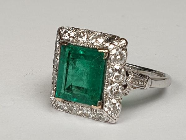 1.92ct Columbian Art deco emerald engagement ring  DBGEMS - image 4