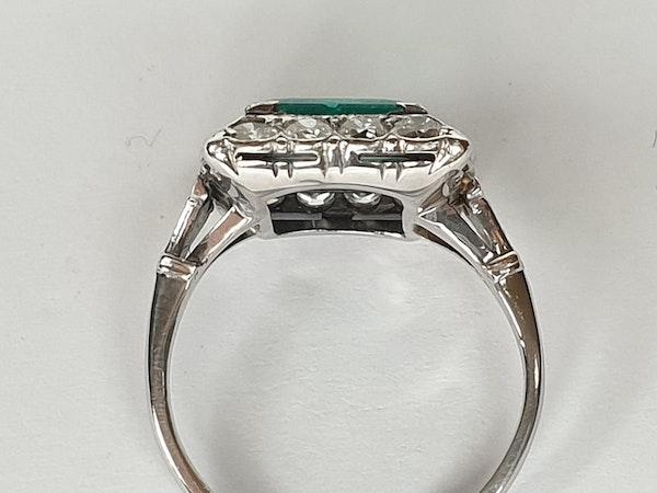 1.92ct Columbian Art deco emerald engagement ring  DBGEMS - image 5