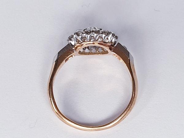 Antique Diamond Cluster Engagement Ring  DBGEMS - image 2
