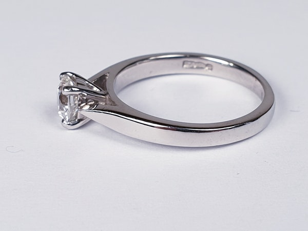 Solitaire Platinum Engagement Ring  DBGEMS - image 5