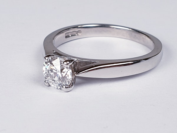 Solitaire Platinum Engagement Ring  DBGEMS - image 2