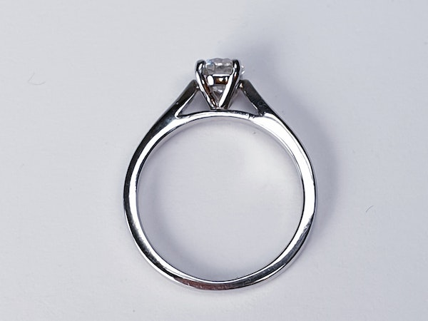 Solitaire Platinum Engagement Ring  DBGEMS - image 4