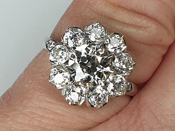 Old Cut Diamond Cluster Ring  DBGEMS - image 2