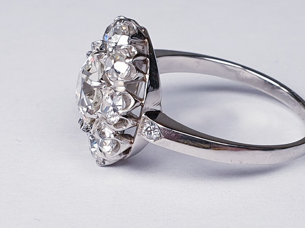 Old Cut Diamond Cluster Ring  DBGEMS - image 6