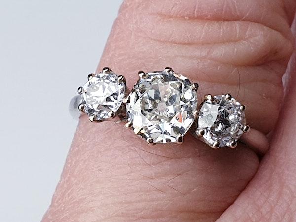 Cushion cut diamond engagement ring  DBGEMS - image 4