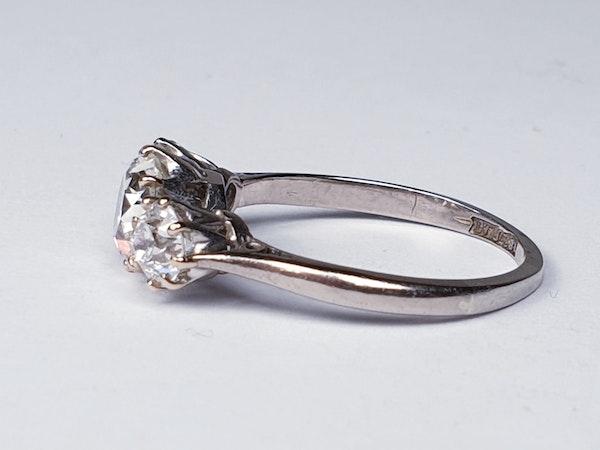 Cushion cut diamond engagement ring  DBGEMS - image 2