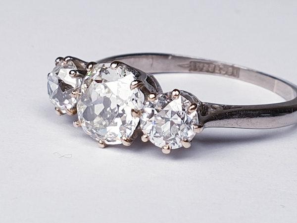 Cushion cut diamond engagement ring  DBGEMS - image 3