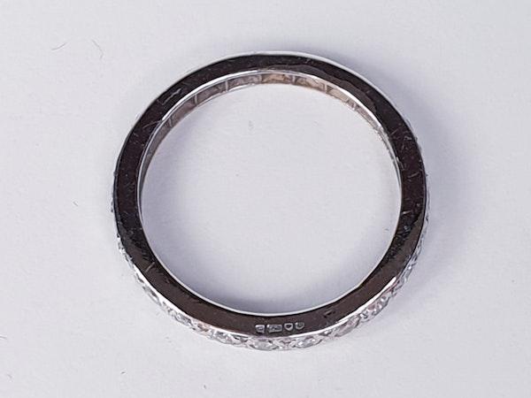 Art Deco Full Hoop Diamond Eternity Ring  DBGEMS - image 2