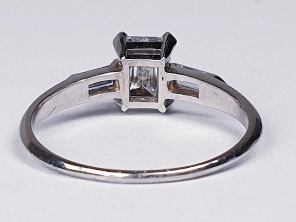 0.70ct emerald cut diamond engagement ring  DBGEMS - image 4