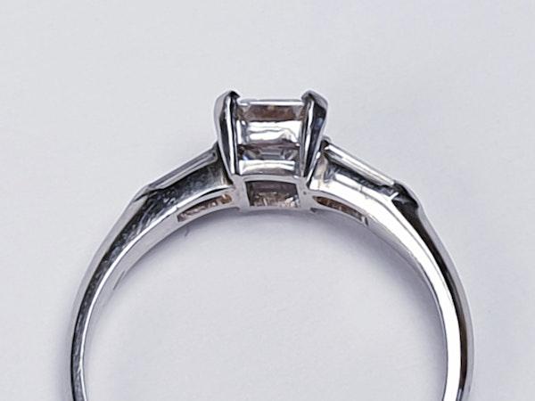 0.70ct emerald cut diamond engagement ring  DBGEMS - image 3