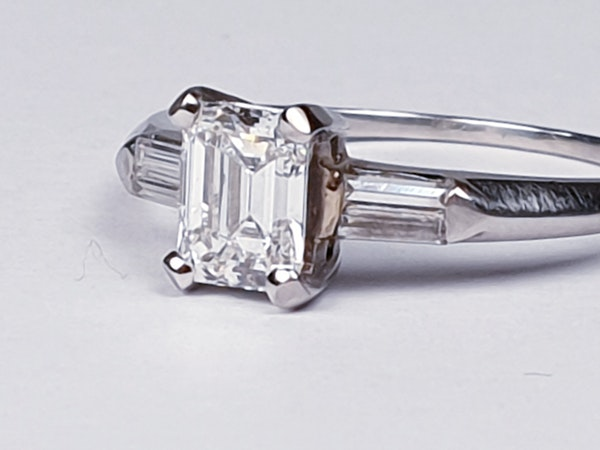0.70ct emerald cut diamond engagement ring  DBGEMS - image 6