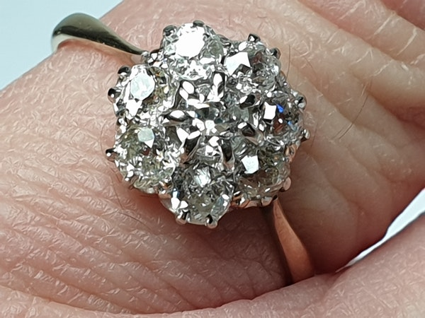 Antique Diamond Cluster Engagement Ring  DBGEMS - image 6