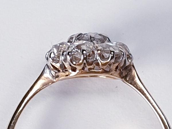 Antique Diamond Cluster Engagement Ring  DBGEMS - image 4