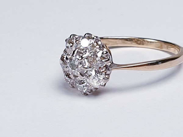 Antique Diamond Cluster Engagement Ring  DBGEMS - image 3