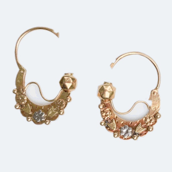 A pair of Gold Gypsy Earrings - image 2