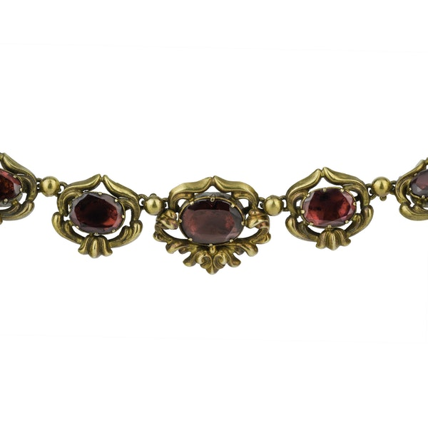 Garnet necklace & Earring Suite - image 2