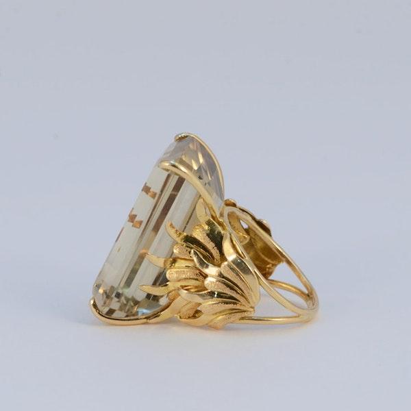 1960's, 18ct Yellow Gold Citrine stone set Ring, SHAPIRO & Co - image 2