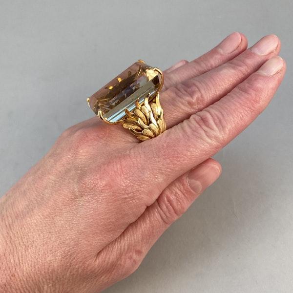 1960's, 18ct Yellow Gold Citrine stone set Ring, SHAPIRO & Co - image 3