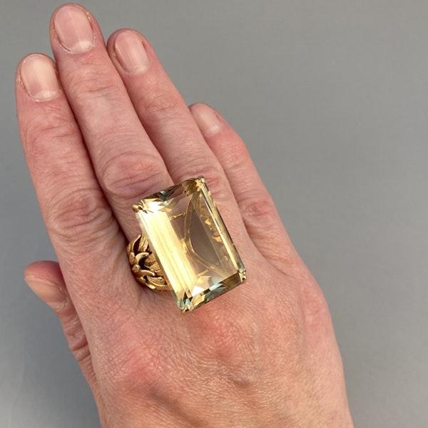 1960's, 18ct Yellow Gold Citrine stone set Ring, SHAPIRO & Co - image 4