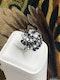 A very stylish 18 Carat White Gold, Sapphire and Diamond Cocktail Ring, English, Circa 2000. - image 2