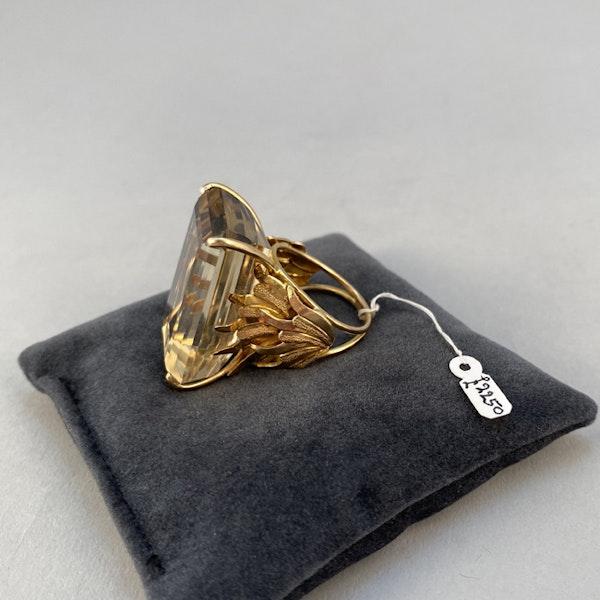1960's, 18ct Yellow Gold Citrine stone set Ring, SHAPIRO & Co - image 8