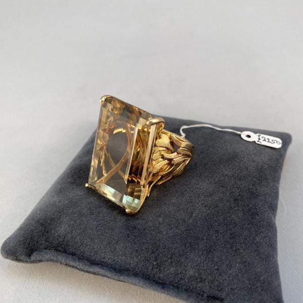 1960's, 18ct Yellow Gold Citrine stone set Ring, SHAPIRO & Co - image 9
