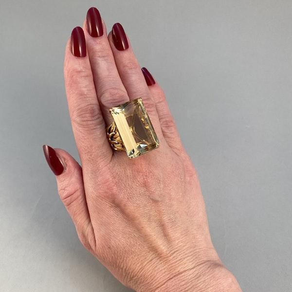 1960's, 18ct Yellow Gold Citrine stone set Ring, SHAPIRO & Co - image 5