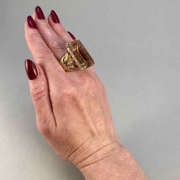 1960's, 18ct Yellow Gold Citrine stone set Ring, SHAPIRO & Co - image 6
