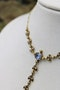 A very beautiful 15 Carat Yellow Gold (stamped) Natural Sapphire & Seed Pearl Demi-Necklace, Belle Époque \ Circa 1905 - image 2