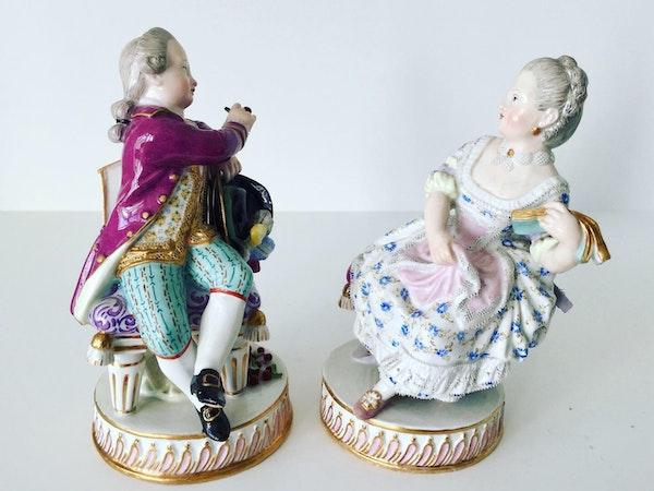 Pair of Meissen figures - image 5