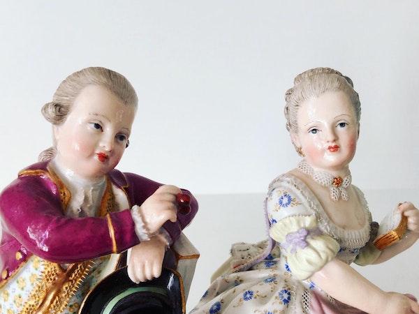 Pair of Meissen figures - image 3