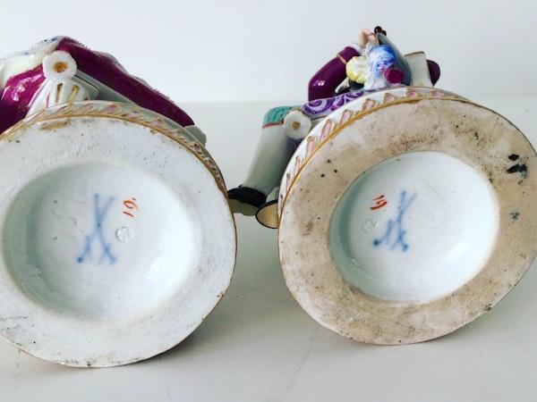Pair of Meissen figures - image 6