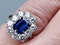 Antique Sapphire and Diamond Cluster Ring  DBGEMS - image 5