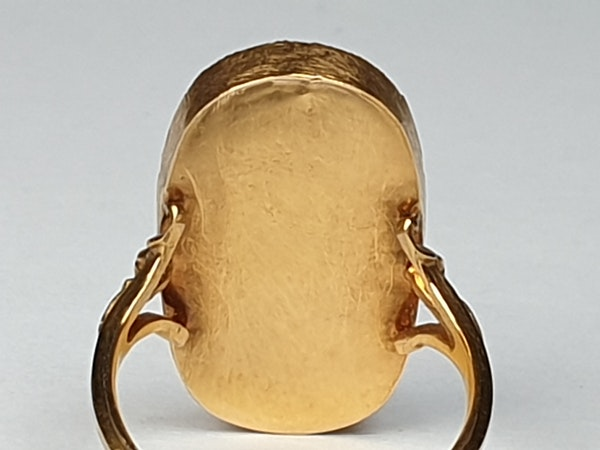 Enamel and Diamond Ring circa 1830  DBGEMS - image 3