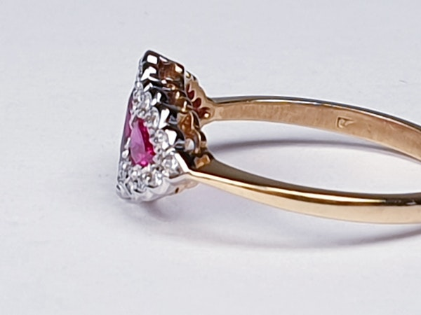 Ruby and Diamond Three Stone Ring  DBGEMS - image 4