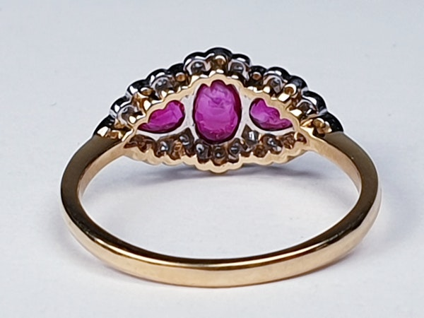 Ruby and Diamond Three Stone Ring  DBGEMS - image 3
