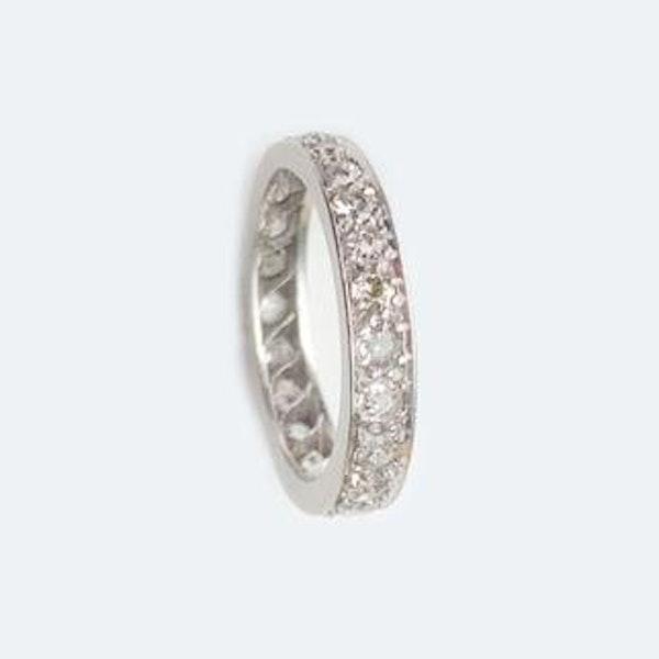 A Diamond Platinum Eternity Ring - image 2