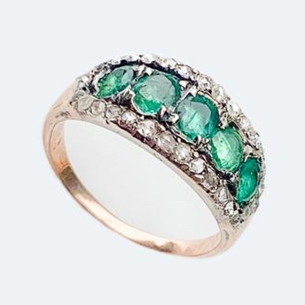 A Georgian Emerald Gold Ring - image 2