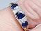 Antique three stone sapphire ring 4271   DBGEMS - image 2