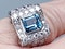Fabulous Aquamarine and Diamond Platinum Ring  DBGEMS - image 3