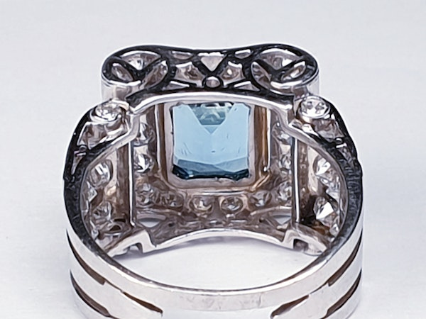 Fabulous Aquamarine and Diamond Platinum Ring  DBGEMS - image 5