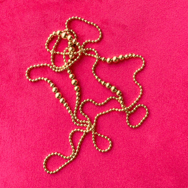 An 1880s Gold Bobble Chain - image 2