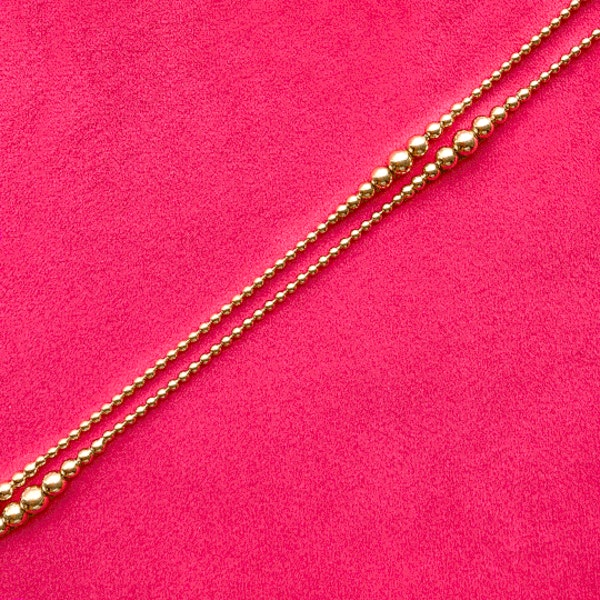An 1880s Gold Bobble Chain - image 3