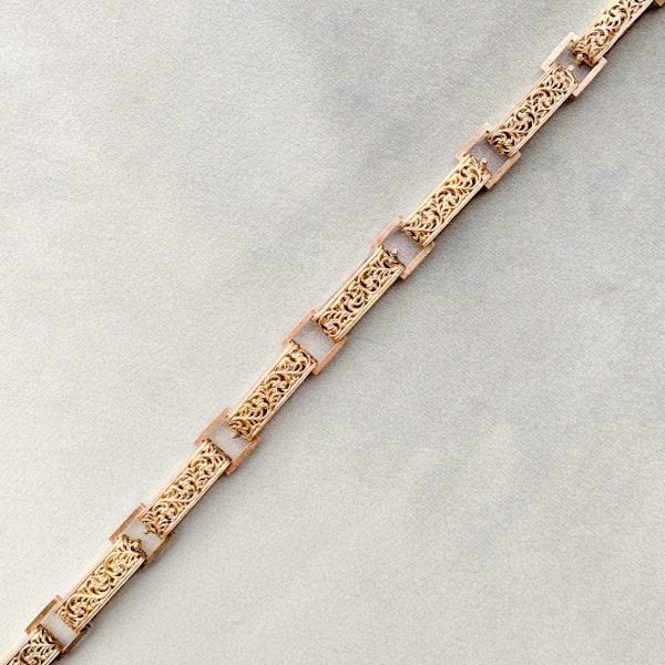 An Openwork Victorian Bar Link Chain - image 1