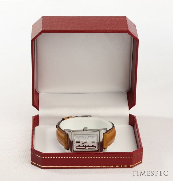 Bulgari Rettangolo Ladies Stainless Steel - image 7